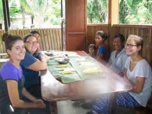 Repas avec les producteurs locaux en Equateur