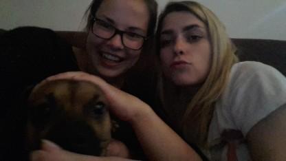 Avec ma colocataire et son chien en Croatie